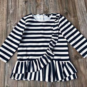 🎅🏻J. CREW striped peplum top